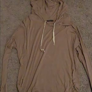 Brandymelville soft brown hoodie with front pocket